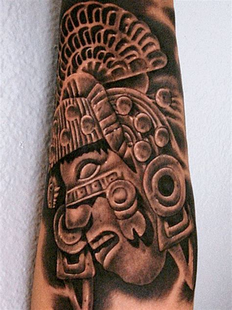 Neoazteca Mexican Tattoo Art 5 Fake Mexican Aztec Tattoos Designs