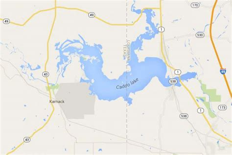 map of east texas lakes caddo lake 166 east of dallas is among more than a dozen photo 7713768 106095