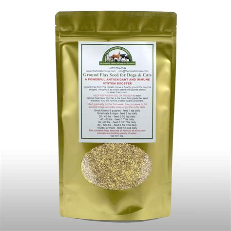 flaxseed for dogs flax seed organic for cats dogs ground 1 lb the holistic
