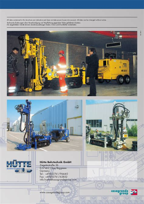 hutte 203 piling rig hutte hbr203 drilling rig hire