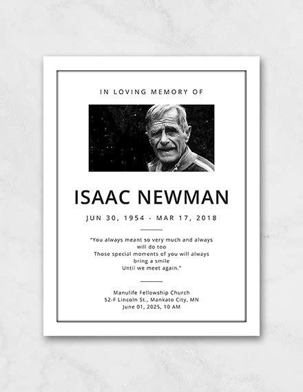 funeral program templates  psd docs
