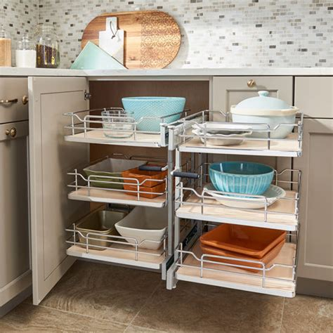 rev a shelf blind corner cabinet pull out pullout 3 tier wire pull slide pull soft close blind