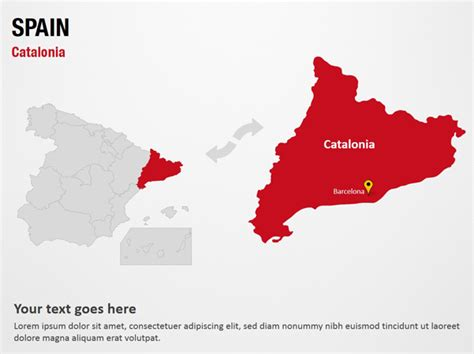 catalonia spain powerpoint map slides catalonia