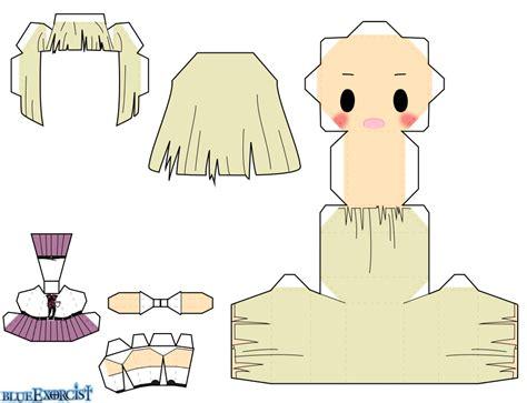 Papercraft Dolls - shiemi moriyama chibi doll free printable papercraft