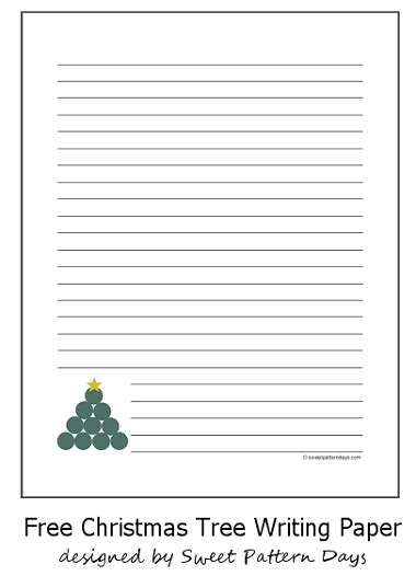 tree writing paper free tree lined writing paper