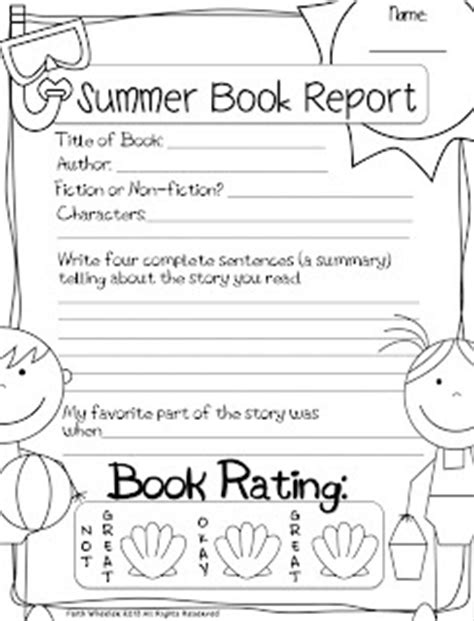 types of book reports 5 types of quot book report quot docs for kid s reading folders