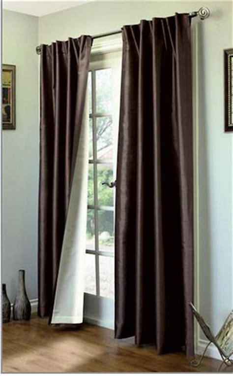 dark chocolate curtains ming lined back tab or rod pocket thermasilk curtains