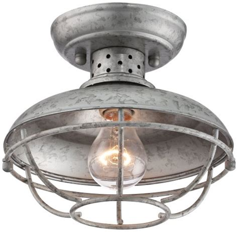 Galvanized Steel Light Fixtures Franklin Park 8 1 2 Quot Wide Galvanized Outdoor Ceiling Light Ceiling Fan Mart
