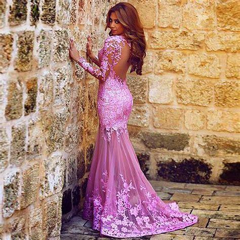 vestidos de 2016 mermaid lace prom dresses open back prom dress court evening dress