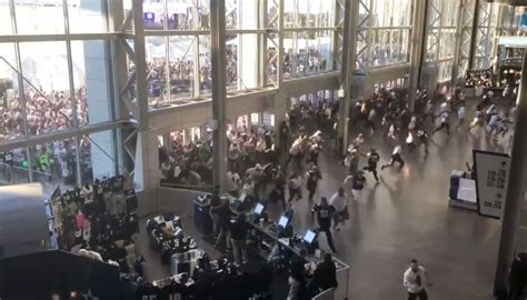 mayhem break   cowboys open doors  fans  storm  att stadium