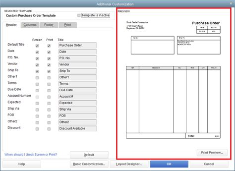 quickbooks sales order template quickbooks purchase order templates quickbooks order form