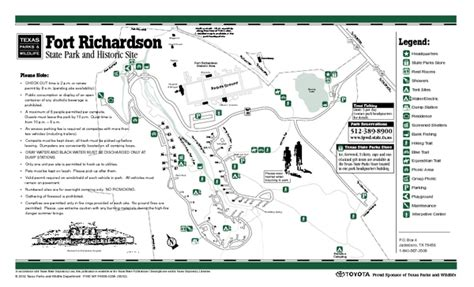 where is richardson on the map fort richardson state park facility and trail map