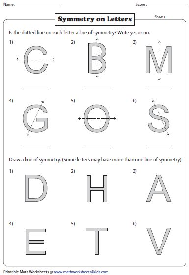 Lines Of Symmetry Worksheets by Symmetry Worksheets
