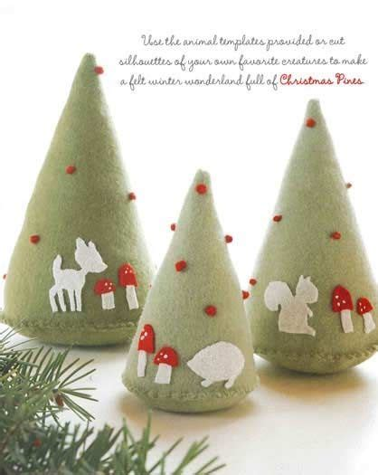 Handmade Trees Ideas - tree decorations using felt