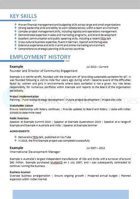 Resume Help Canberra Sector Executive Resume 187 Service Resumes 1300 283368