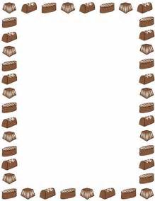 a page border featuring chocolate candy free downloads at