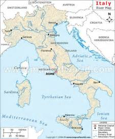 map of rivers and cities italy river map shows all the major and minor rivers of