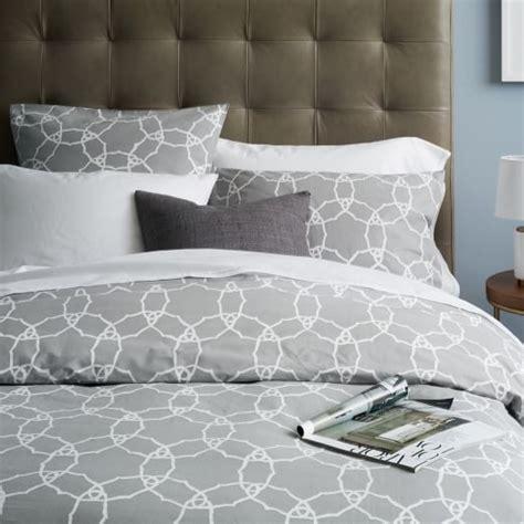 grey pattern bedding organic regal medallion duvet cover twin west elm