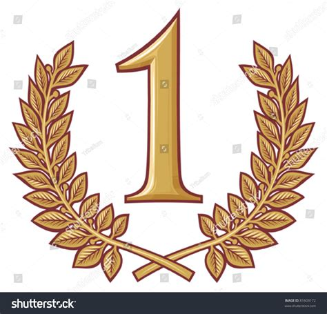 now a number 1 best first place the winner number one stock vector 81603172