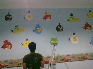 Dekorasi Lukisan Angry Bird lukis dinding ib4 airbrush angry birds design