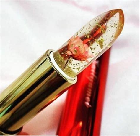 Lipstik Bunga Transparan unik lipstik ini memiliki bunga di dalamnya kawaii