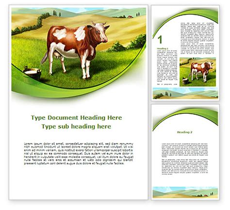 nature templates for word cow on the nature word template 09266 poweredtemplate com