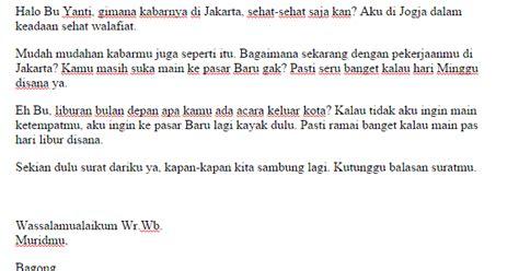 contoh surat pribadi untuk guru sisilain net