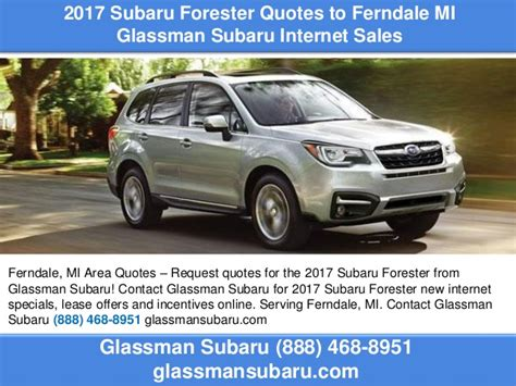 2017 subaru forester quotes to ferndale mi