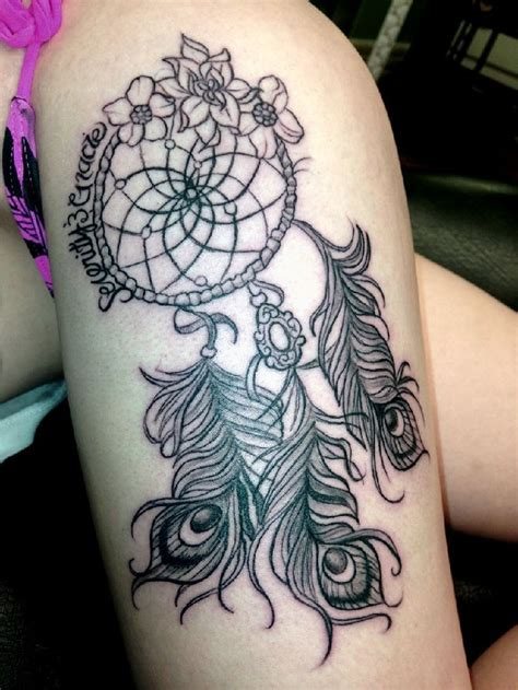 dreamcatcher thigh tattoos 25 best catcher tattoos for leg images