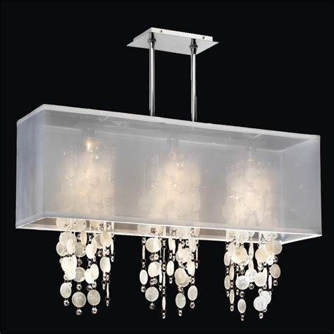 Chandelier Outlet Rectangular Shade Chandelier Capiz Shell And Crystal
