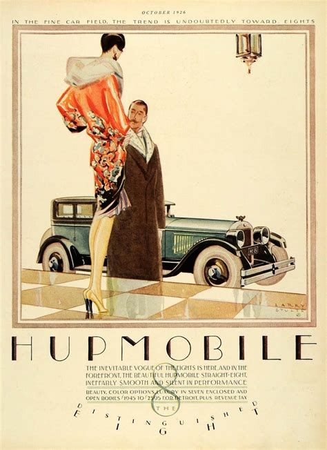 deco car ads 1926 deco automobile print ad ephemera