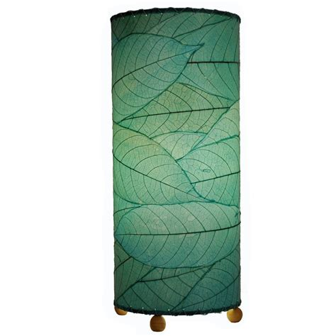 cocoa leaf l shade eangee home design cylinder fossilized cocoa leaf sea blue