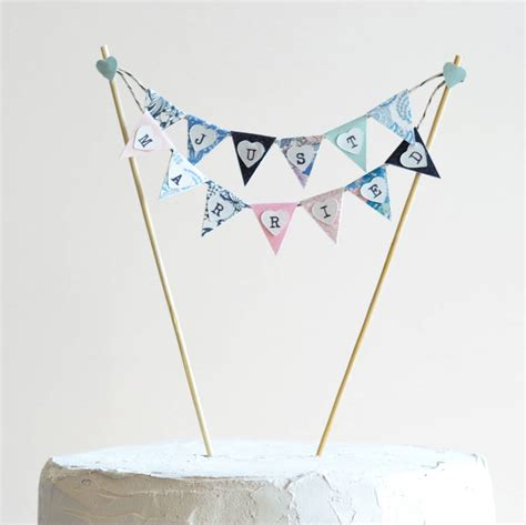 Wedding Cake Bunting by Handmade Just Married Wedding Cake Bunting By