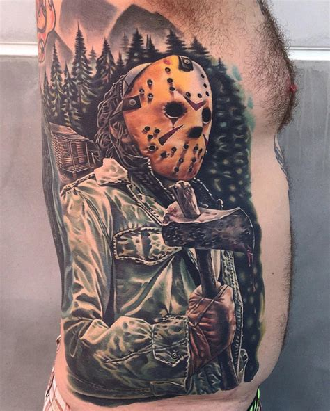 jason voorhees mens side piece best tattoo design ideas