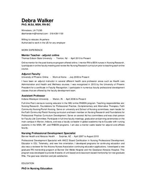 debra walker resume