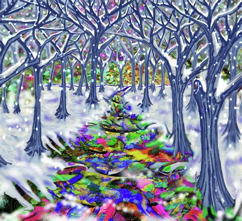 christmas tree path painting by steve farr