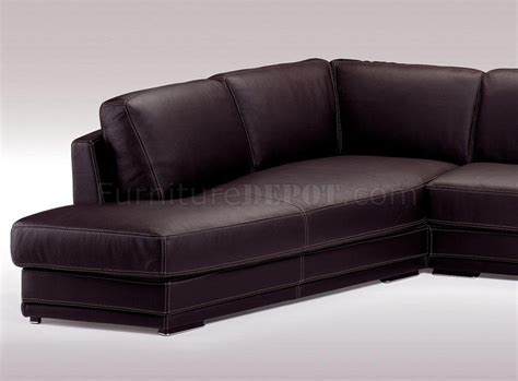 espresso leather couch italian top grain leather modern sectional sofa holiday