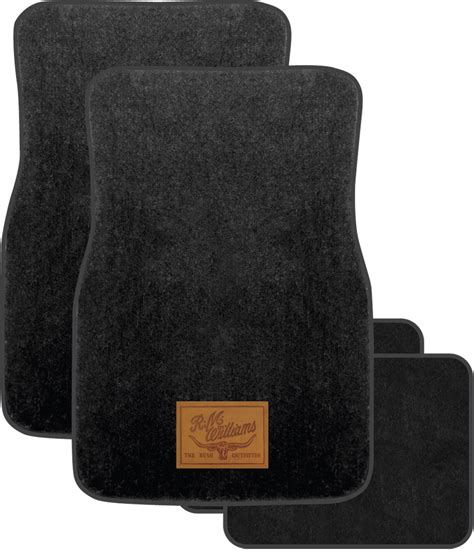 Black Car Mats car mats r m williams carpet black