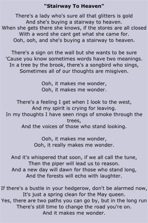 stairwells lyrics stairway to heaven song heaven check more at http