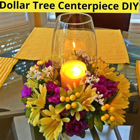 dollar tree centerpiece diy youtube pinteres