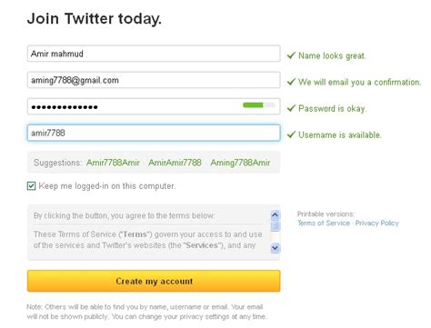 bagaimana membuat email twitter cara membuat twitter kaya dari internet
