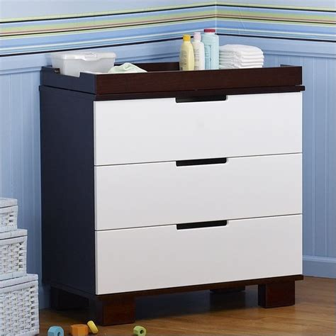 Babyletto Modo Changing Table Babyletto Modo 3 Drawer Wood Changing Table W Tray In Espresso White Contemporary Changing