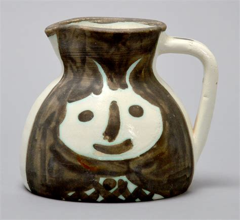 picasso paintings vase pablo picasso ceramic pitcher heads 1956 turned pitcher