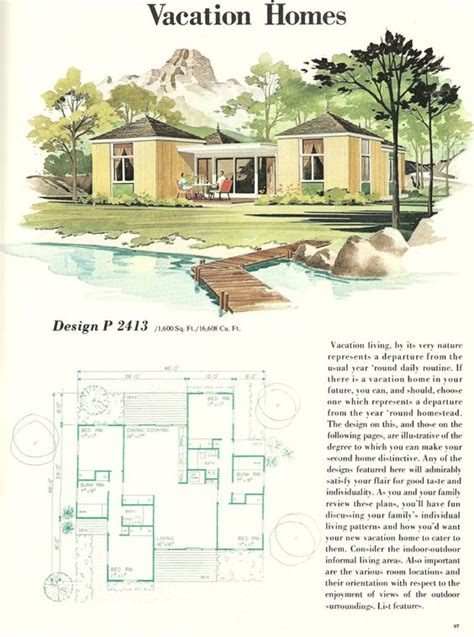 1960s house plans vintage house plans vacation homes 1960s vacation homes