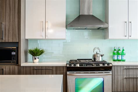 subway glass tile backsplash kitchen contemporary with