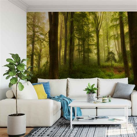 woodland wall mural wall mural photo wallpaper woodland forest woods trees greenery 1x 1140641w ebay