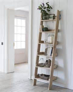 Small Ladder Bookcase Oak Ladder Shelf Small Home Storage Systems From Store