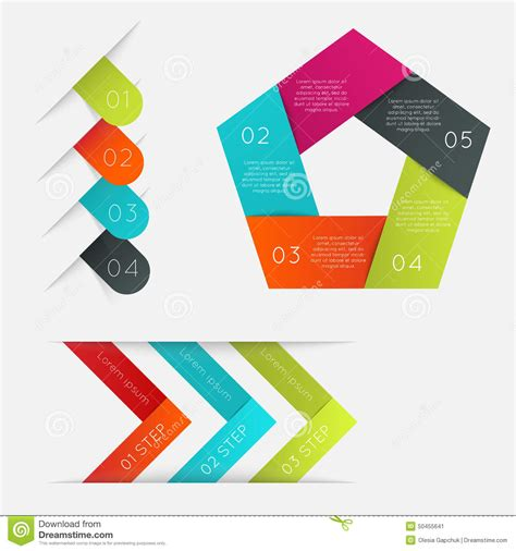 website layout vector free set of infographics elements in modern flat business style