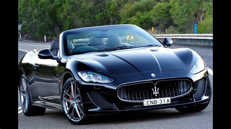 black maserati sports car sport car 2018 maserati granturismo new convertible youtube