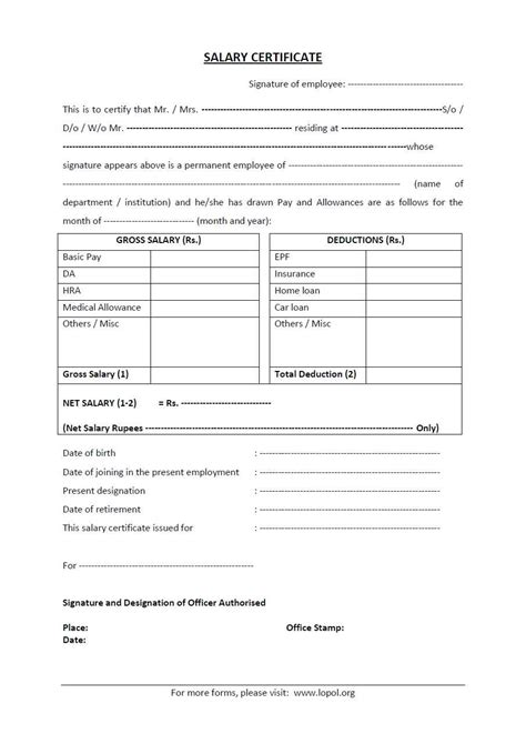 Salary Statement Letter To Bank Differences Between Salary Certificate And Salary Letter Lopol Org